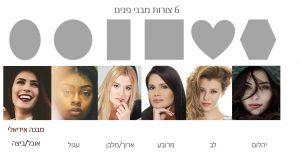 6 צורות מבני פנים