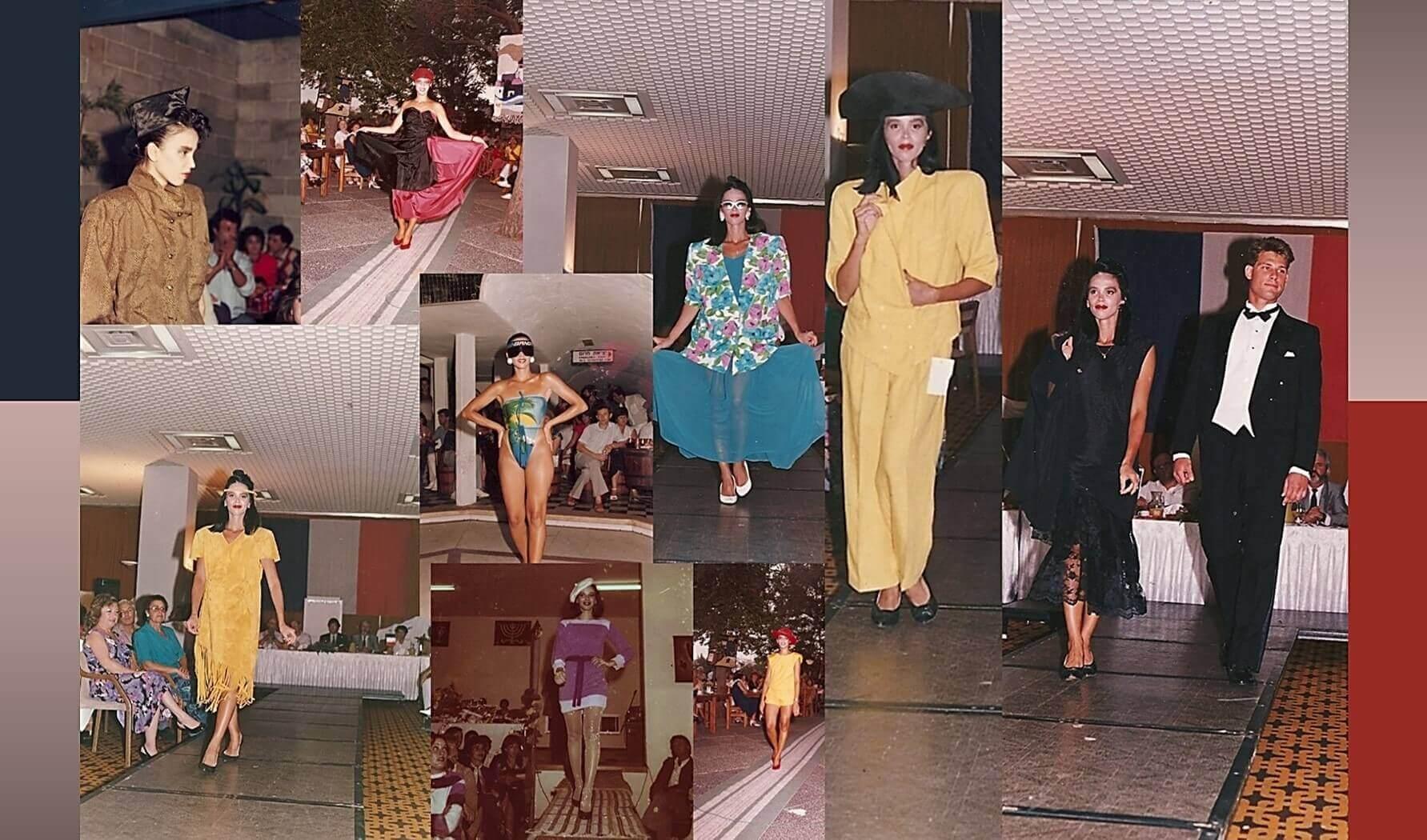 קולאז' תמונות מתצוגות אופנה